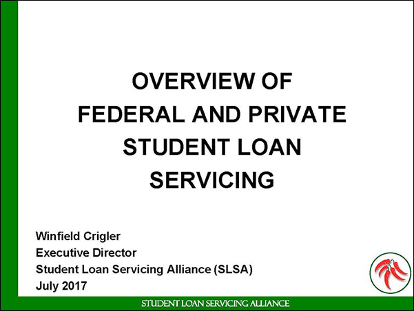 Overview of Student Loan Servicing