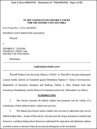 Amended Complaint – SLSA v. Taylor